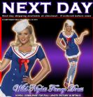 FANCY DRESS COSTUME # PIN UP AHOY SAILOR DRESS SM 8-10